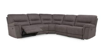 Esquire Optie B handbediende recliner hoekbank met 2 armem