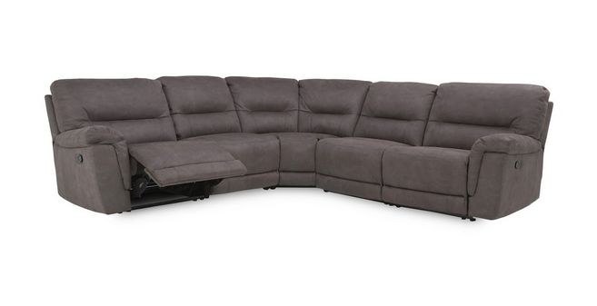Esquire Optie B handbediende recliner hoekbank met 2 armem Arizona ...