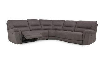 Optie B handbediende recliner hoekbank met 2 armem Arizona