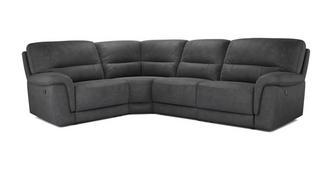 Esquire Optie H Rechtszijdige 2-zits hoek 1-zit met handbediende recliner