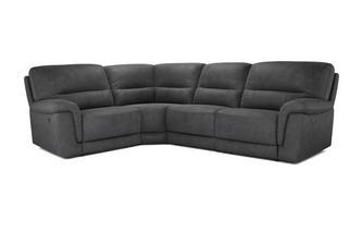Optie H Rechtszijdige 2-zits hoek 1-zit met handbediende recliner Arizona