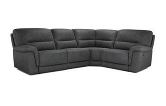 Optie E Linkszijdige 2-zits hoek 1-zit met handbediende recliner Arizona