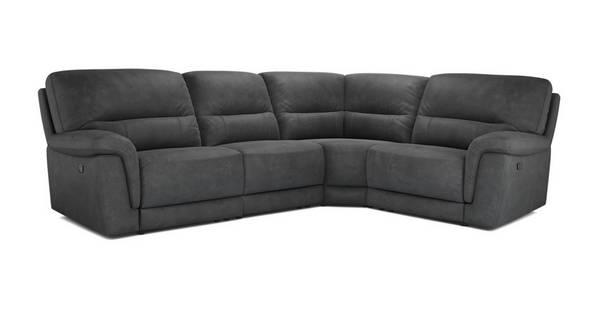 Esquire Optie E Linkszijdige 2-zits hoek 1-zit met handbediende recliner
