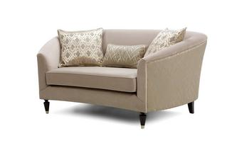 Pattern and Plain Cuddler Sofa Etienne