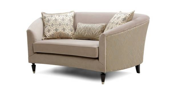 Etienne Pattern and Plain Cuddler Sofa