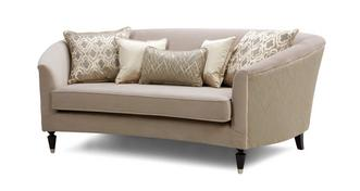 Etienne Pattern and Plain Medium Sofa