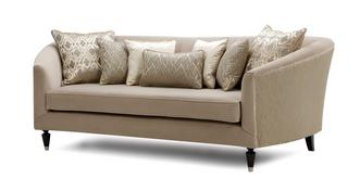 Etienne Pattern and Plain Large Sofa