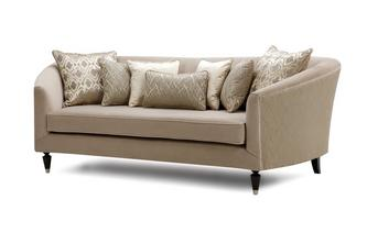 Pattern and Plain Large Sofa Etienne