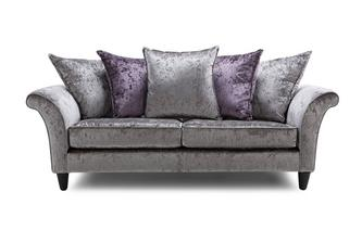 Etoile 3 Seater Pillow Back Sofa Krystal