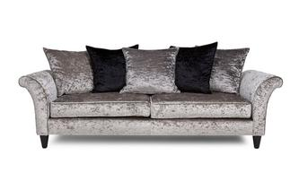 4 Seater Pillow Back Sofa Krystal