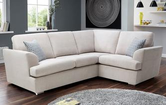 Etta Left Hand Facing 2 Seater Corner Sofa Plaza