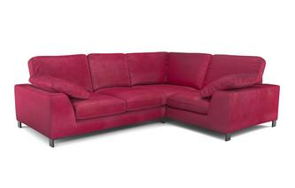 Velvet Left Hand Facing 2 Seater Corner