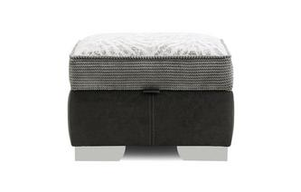 Storage Footstool Pattern Top