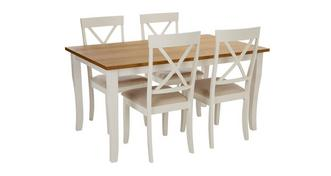 Evesham Rectangular Dining Table & 4 Chairs