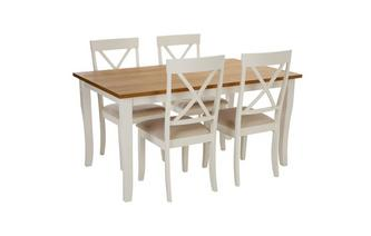 Rectangular Dining Table & 4 Chairs Evesham