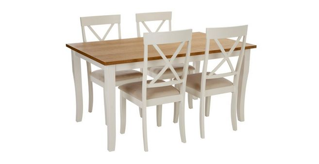 Evesham Rectangular Dining Table Set Of Chairs DFS - Rectangle table with 4 chairs