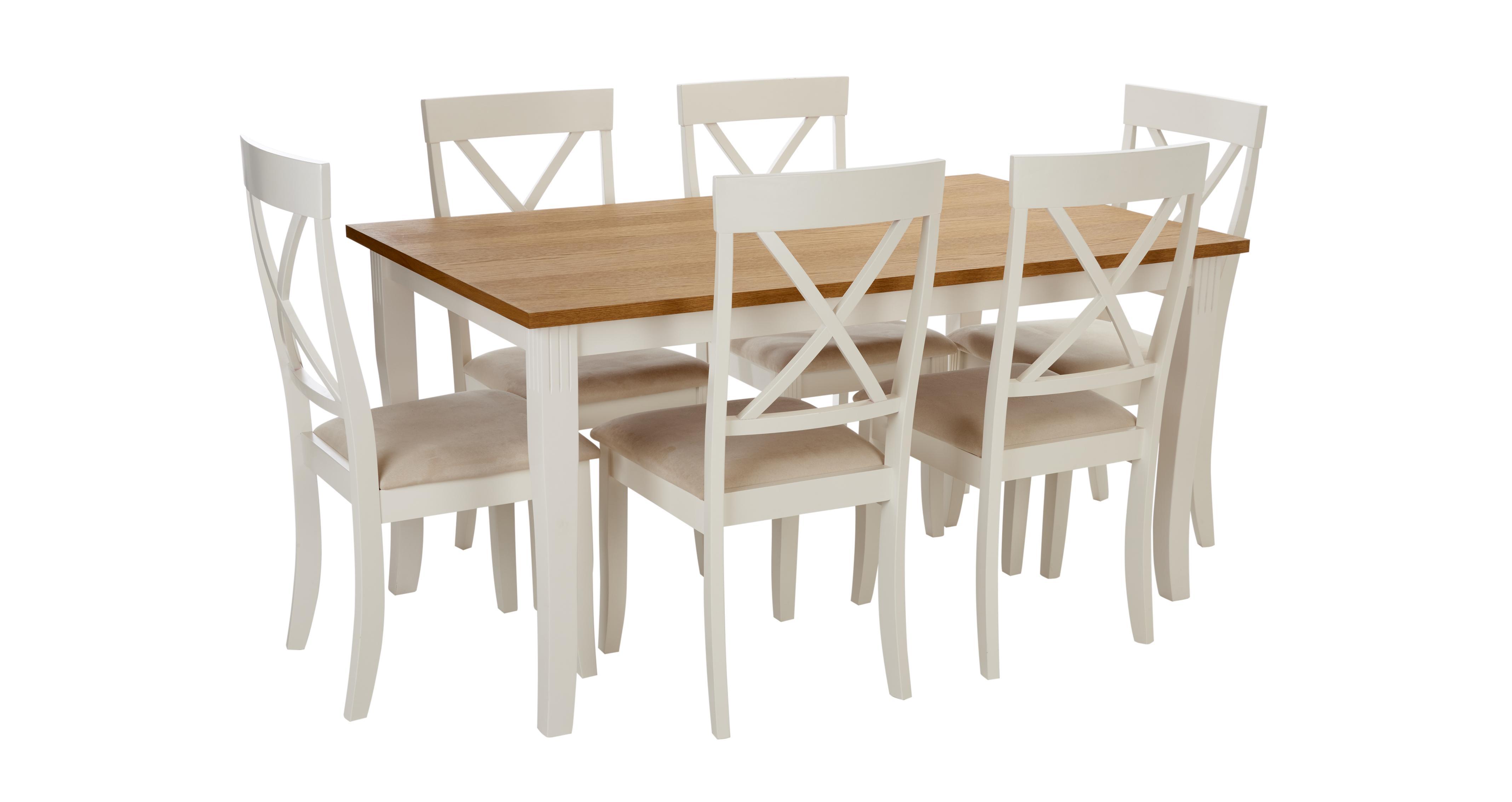 Evesham Rectangular Dining Table & Set of 4 Chairs | DFS Ireland