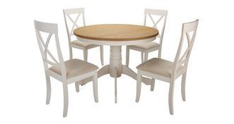 Evesham Ronde voetstuk eettafel en reeks van 4 stoelen