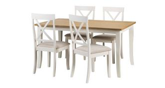 Evesham Extending Table & 4 Chairs