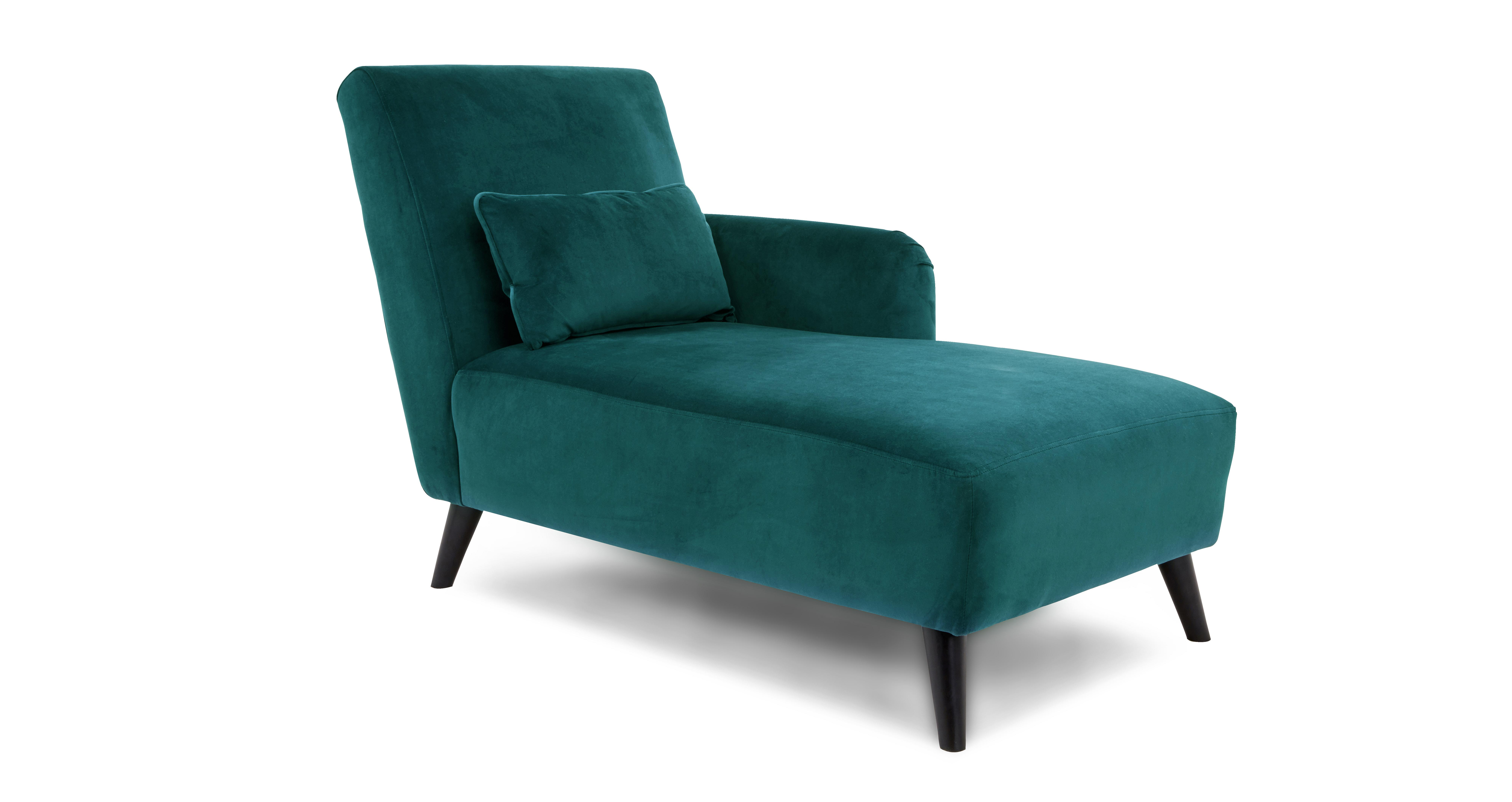 Evie right hand facing chaise longue velvet dfs for Chaise longue dfs
