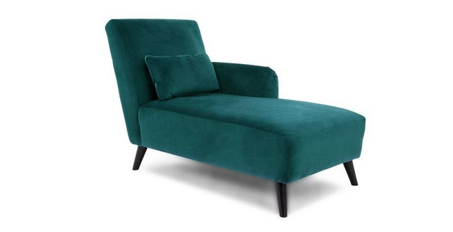 Evie Right Hand Facing Chaise Longue Velvet | DFS Ireland on chaise recliner chair, chaise furniture, chaise sofa sleeper,