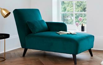 21daydelivery Evie Right Hand Facing Chaise Longue Velvet House Beautiful