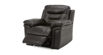 Evolution Leather and Leather Look Electric Recliner Chair