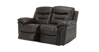Evolution Leather and Leather Look 2 Seater Manual Recliner