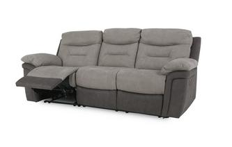 Fabric 3 Seater Manual Recliner Arizona