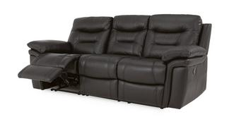 Evolution Leather and Leather Look 3 Seater Manual Recliner