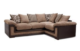 Left Hand Facing Pillow Back Corner Deluxe Sofa Bed