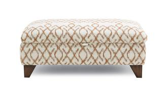 Ezra Pattern Large Storage Footstool