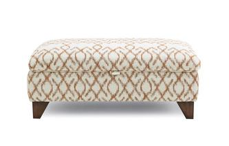 Pattern Large Storage Footstool Ezra