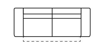 Fabian 3-zits bank met 2 zit en elektrische recliner
