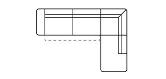Fabian Linkszijdige open einde 3-zits hoek met elektrische recliner