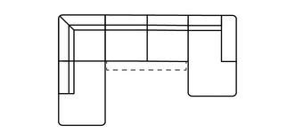 Fabian Rechtszijdige chaise 2.5-zits open einde hoek met elektrische recliner