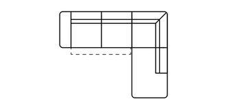 Fabian Rechtszijdige open einde 2.5-zits hoek met elektrische recliner