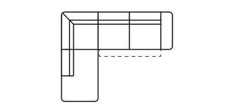 Fabian Linkszijdige open einde 2.5-zits hoek met elektrische recliner