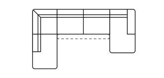 Fabian Rechtszijdige chaise 3-zits open einde hoek met elektrische recliner