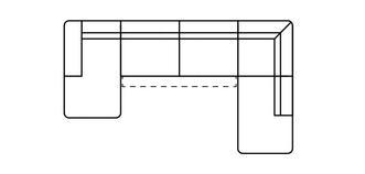 Fabian Linkszijdige chaise 3-zits open einde hoek met elektrische recliner
