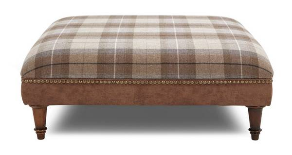 Fairfield Check Top Large Footstool