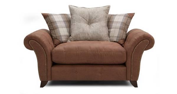 Fallon Pillow Back Cuddler Sofa