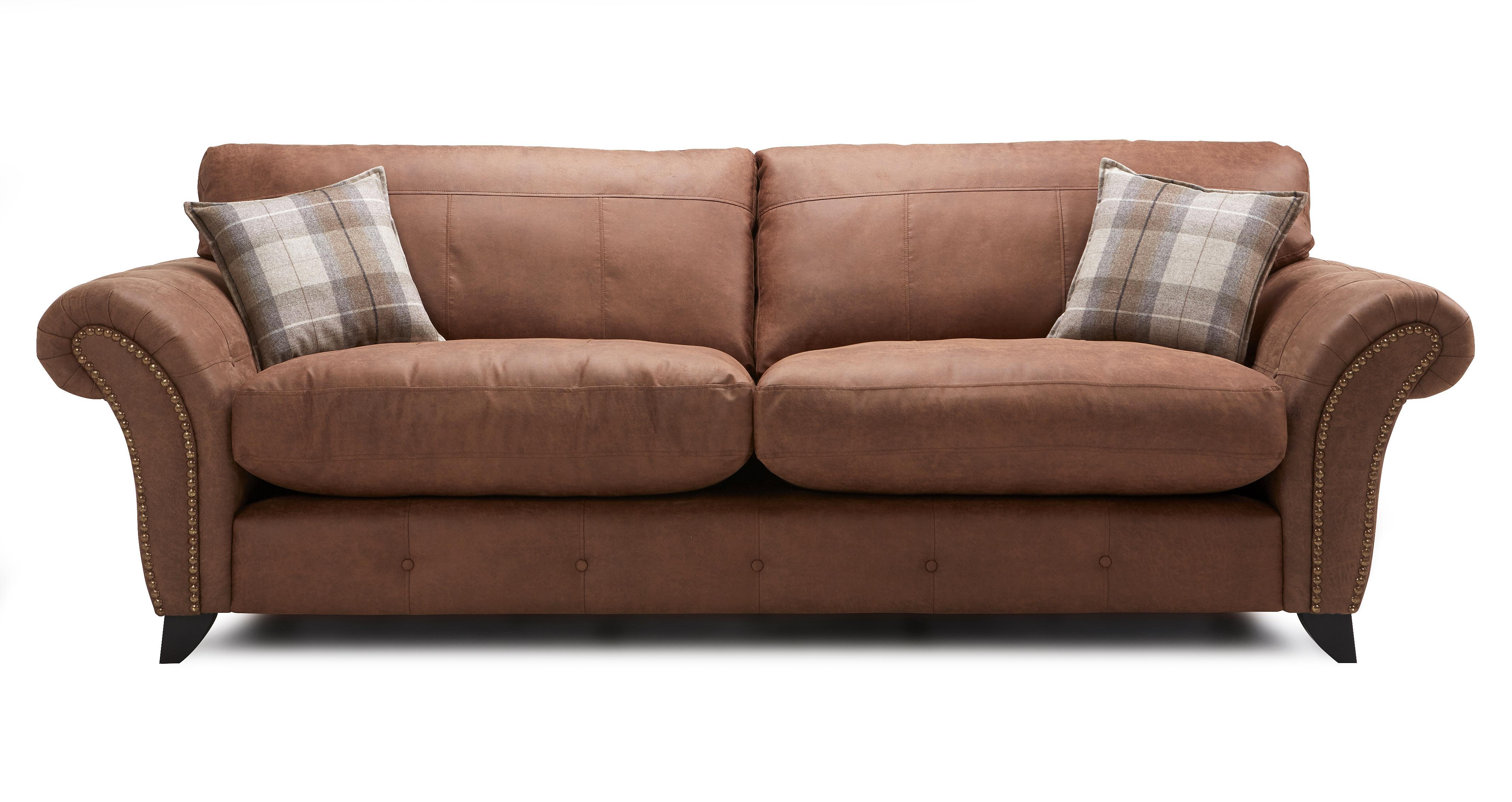 Fallon Left Hand Facing 3 Seater Formal Back Corner Sofa Oakland