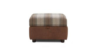 Fallon Check Top Storage Footstool