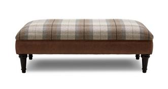 Fallon Check Top Large Footstool