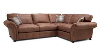 Fallon Left Hand Facing 3 Seater Formal Back Corner Sofa