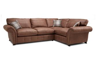 Left Hand Facing 3 Seater Formal Back Corner Sofa Oakland