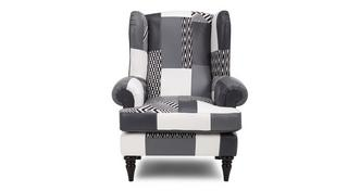 Fame Patch High Back Wing Chair