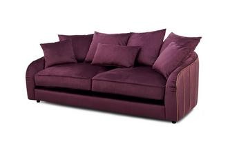 Gold Piped 3 Seater Sofa