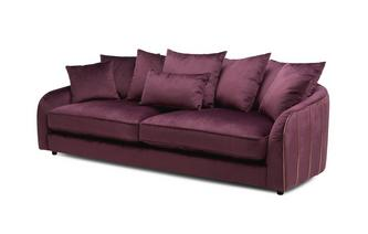 Gold Piped 4 Seater Sofa